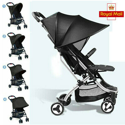 Pushchair Sun Shade Canopy Cover Baby Stroller Buggy Pram Travel Weather Shield