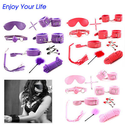 Adult Toys For Couples Sex Tool Rope Whip Necklaces Hand Cuffs Ball Gag Eyepatch