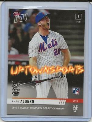 Pete Alonso - MLB TOPPS NOW® Card 493 CHAMPION OF THE 2019 HOME RUN DERBY