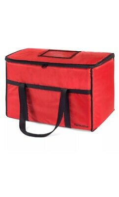 Homevative Nylon Insulated Food Delivery and Reusable Grocery Bag - For