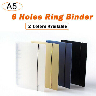 PP Cover for Notebook File Folder 6 Holes Ring Binder Spiral A5 Refillable
