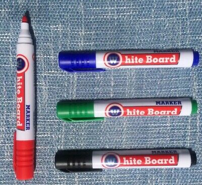 Whiteboard Markers Pens White Board Dry-Erase Marker 3/4 Colors Set Fine Size