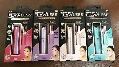 Finishing Touch Flawless Women's Painless Facial Hair Remover 18K Gold Plated
