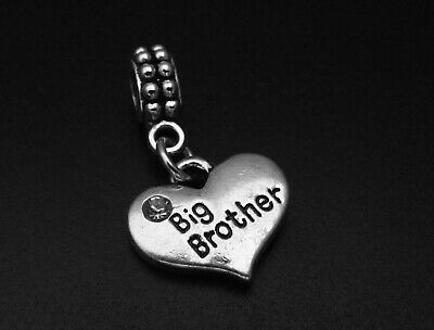 Big Brother Charm for Brand Bracelets and Necklaces Family Pendant Silver