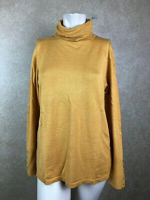 JM collection Long Sleeve Turtleneck Golden Spruce Size Small__ R19-3