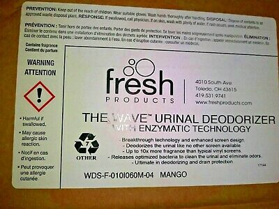 Fresh Products The Wave Urinal Deodorizer (Mango) Box of 10