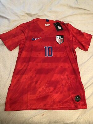 d55945442 Christian Pulisic #10 2019 Nike USA Men's Away Soccer Jersey Red Large