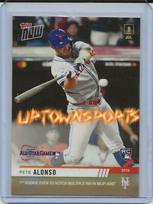2019 TOPPS NOW 496 PETE ALONSO RC METS 1ST ROOKIE Multi RBI IN ASG