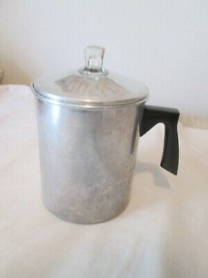 Vintage Aluminum Percolator  Coffee Pot 7 Cups Stove-Top or Camping