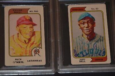"""2 Hofers: James """"Cool Papa"""" Bell And Buck O'neil Pesque Hueso Cards"""