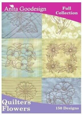 Anita Goodesign Quilters Flowers Embroidery Machine Design CD 65AGHD