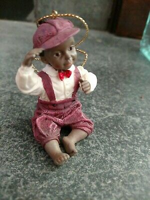 Vintage Norman Rockwell Celebration of  Christmas Ornament  African American
