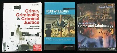 Crime & Justice Guide to Criminology Crime Ciminality Criminal Australian Texts
