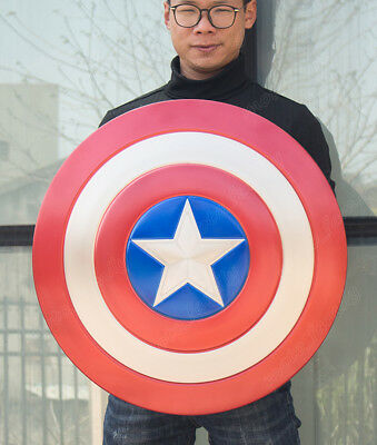 1:1 Scale Captain America Perfect Shield Version Made of Aluminum Alloy Props