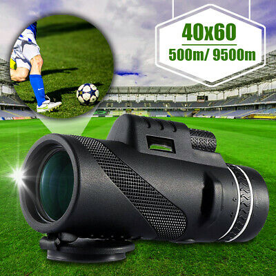 40x60 Dual Focus Monocular Telescope Fogproof Day & Night Vision HD Optics