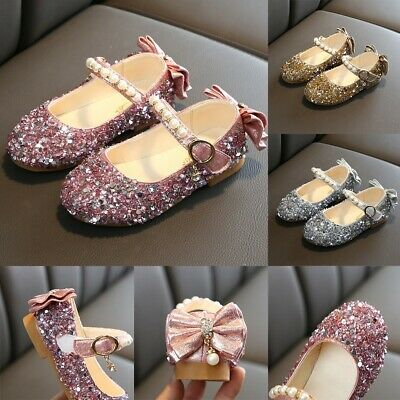 Children Toddler Infant Kids Baby Girls Bowknot Princess Casual Shoes Sandals