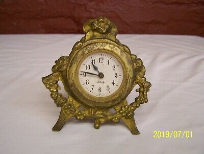 Antique Liberty Alarm Clock ~ Movement Made In Germany ~ Case Made In U.s.a.