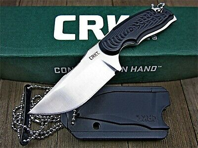 CRKT Civet 8Cr13MoV Stainless Steel Fixed Blade Tactical Bowie Neck Knife Sheath