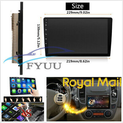 """UK Stock Ultra thin 2Din Android 7.1 9"""" Touch Screen Radio GPS BT Wifi Quad-Core"""