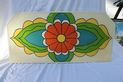 """VTG Pop Art Large 1960s Flower Power Peter Max Style Architectural Panel 34 1/2"""""""
