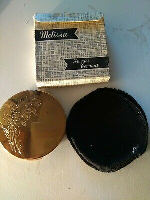 Vintage  Made in England MELISSA Mirror Powder Compact, IMMACULATE CONDITION