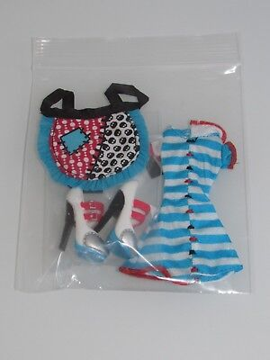 Mattel Frankie Monster High Doll Dress, Apron & Shoes Fashion -New