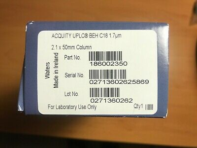 New Sealed WATERS ACQUITY BEH C18, 1.7um, 2.1 x 50mm Column Part 186002350
