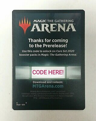 *** MTG M20 Magic Arena Code - 6 FREE PACKS - Core Set 2020 - Digital Delivery!