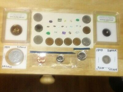 Junk Drawer Vintage U.S. Coins, Natural Gemstone, Silver Coin, Collectible Lot