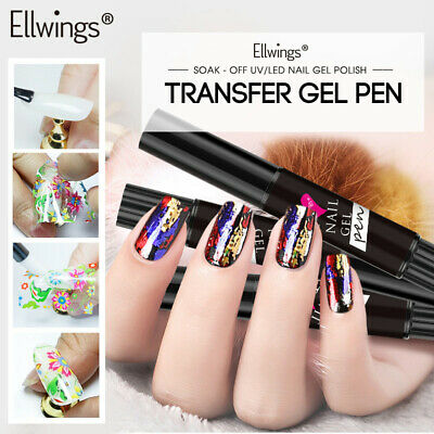 Ellwings Nail Foil Adhesive Glue Starry Sky Sticker Transfer Pen Special Design