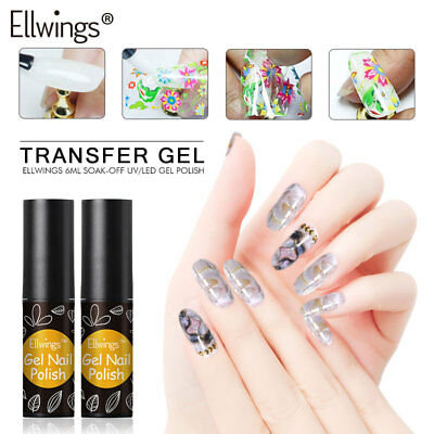 Ellwings Long Lasting Nail Foil Adhesive Glue for Starry Sky Sticker Transfer