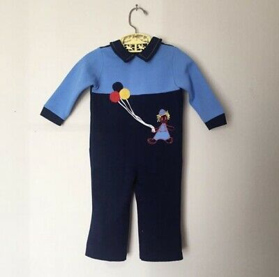 Vintage 70's Polyester Raggedy Andy Cloth Doll Balloons Romper Size 12-18mo