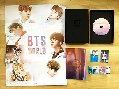OFFICIAL 100% 방탄소년단 BTS World OST Album CD Photobook with Preorder Benefit