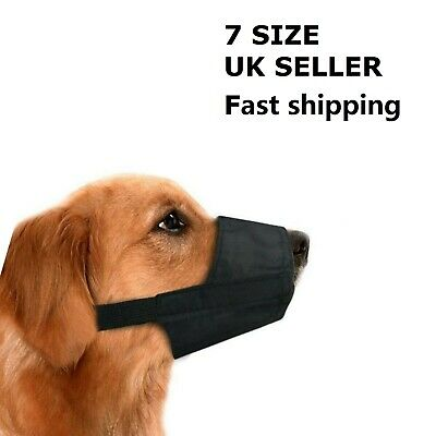 Dog Safety Muzzle Muzzel Adjustable Biting Barking Chewing 7 Size Pet Training
