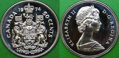 1974 Canada Coat of Arms Half Dollar Sealed in Cello