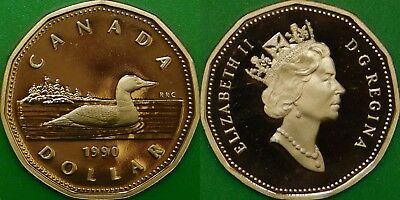 1990 Canada Loonie Graded as Proof From Original Set