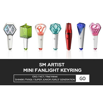 SM ARTIST MINI FANLIGHT KEYRING + Free Tracking number