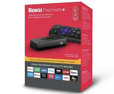 Roku 3921RW Premiere+ Plus 4K/HDR/HD Media Streamer with Remote, New In Box