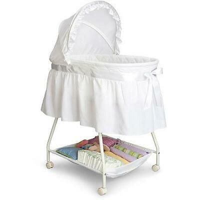 Delta Infant Children Classic Sweet Beginnings Baby Bassinet, Adjustable, White