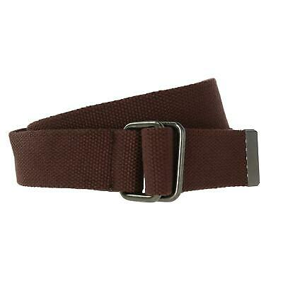New CTM Fabric Web Belt with D Ring Buckle