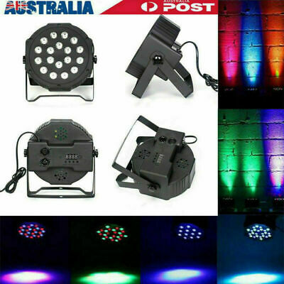 18LED Flat Par Lights RGB Lamp for Club DJ Party Stage Dmx512 KTV Party