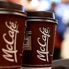 Mcdonalds coffee stickers 100 Cups worth 600 stickers .