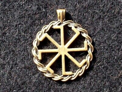 "Ancient Greek-Scythian Bronze ""Kolovrat"" powerful solar symbol Replica/Amulet #1"