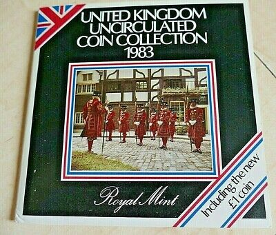 Royal Mint 1983 Brilliant Uncirculated Coin Collection~ 8 Coins ~ BU Condition