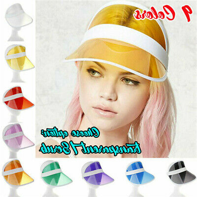 Visor Sun Plain Hat Sports Cap Colors Golf Tennis Beach New Adjustable Men Women