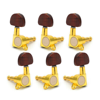 6 Pcs/set Metal Knob Enclosed Acoustic Guitar Tuning Pegs Tuners Machine Heads