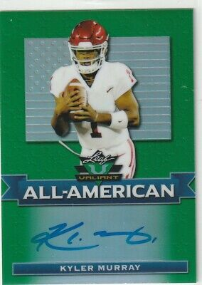 2019 Leaf Valiant  Kyler Murray  Auto On Card Green Refractor Rookie  Cardinals