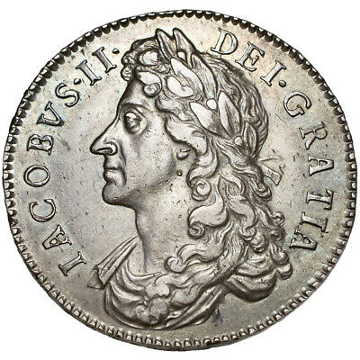 James II. Halfcrown. 1686 / 5..   About Extremely Fine..  8456.