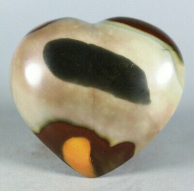 NATURAL POLISHED POLYCHROME JASPER HEART From Madagascar