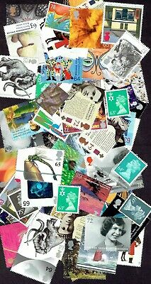 GB Stamps for postage £50 Face Value (50p - 75p range), Full Gum, Never Used.